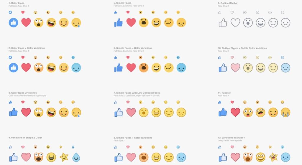 """A reação """"angry"""" parece ter sido controversa até dentro do Facebook. Em imagem divulgada por eles mostrando o processo de testes de beta que levaram a criação dos botões atuais, não havia equivalente ao """"angry"""" ou """"grr"""""""